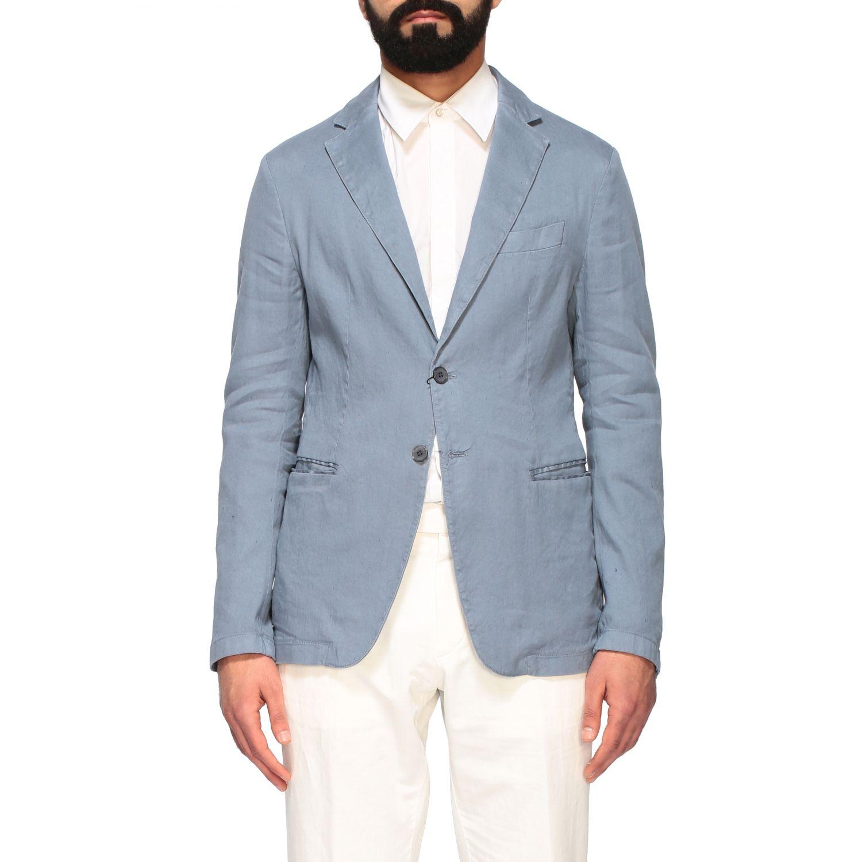 Blazer Emporio Armani: Emporio Armani Jacke aus Gabardine hellblau 1