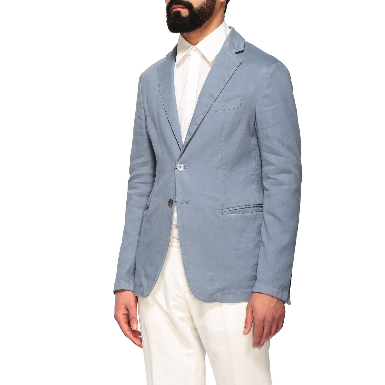 Blazer Emporio Armani: Emporio Armani Jacke aus Gabardine hellblau 4