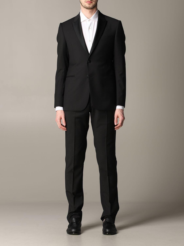 Suit Emporio Armani: Emporio Armani tuxedo suit in wool 220gr drop 7 black 1