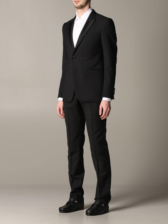 Suit Emporio Armani: Emporio Armani tuxedo suit in wool 220gr drop 7 black 4