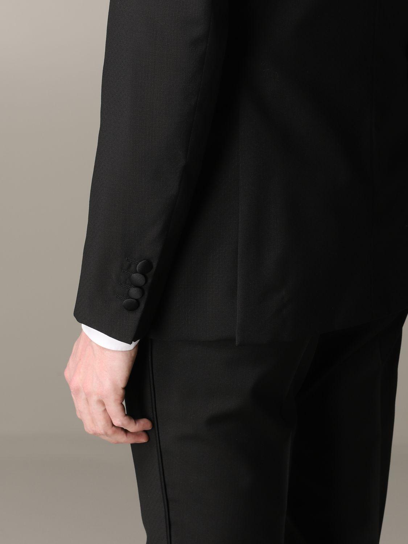 Suit Emporio Armani: Emporio Armani tuxedo suit in wool 220gr drop 7 black 5