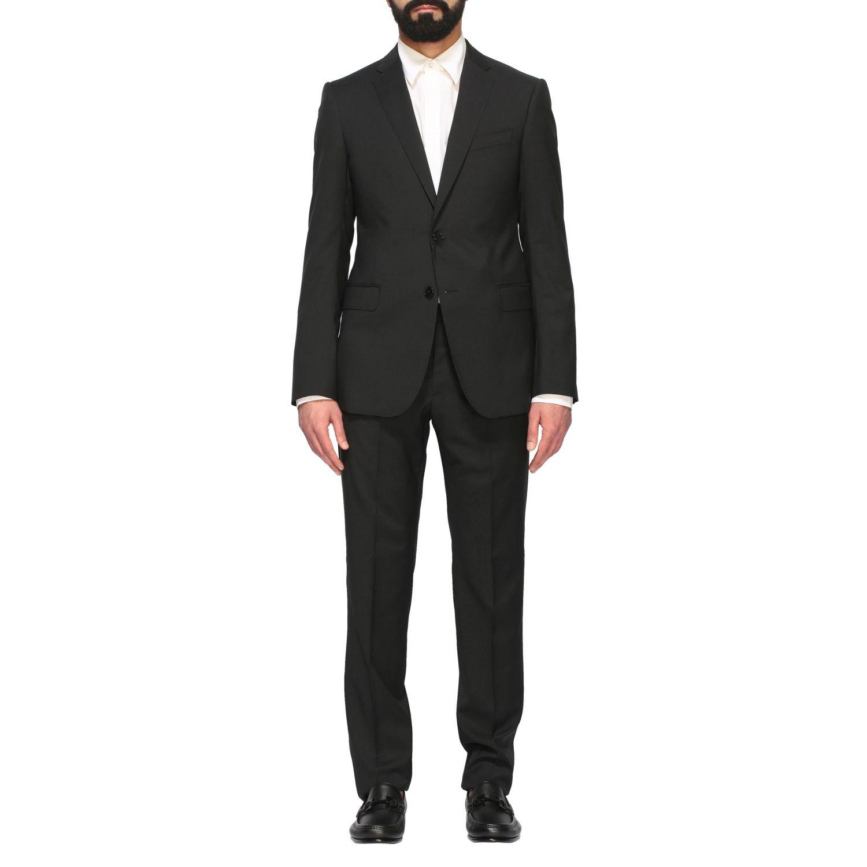 Suit Emporio Armani: Emporio Armani wool suit 213gr drop 7 black 1