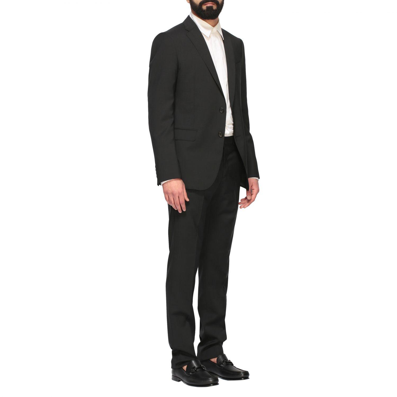 Suit Emporio Armani: Emporio Armani wool suit 213gr drop 7 black 2