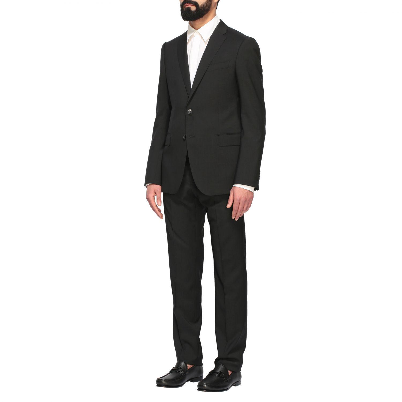 Suit Emporio Armani: Emporio Armani wool suit 213gr drop 7 black 4