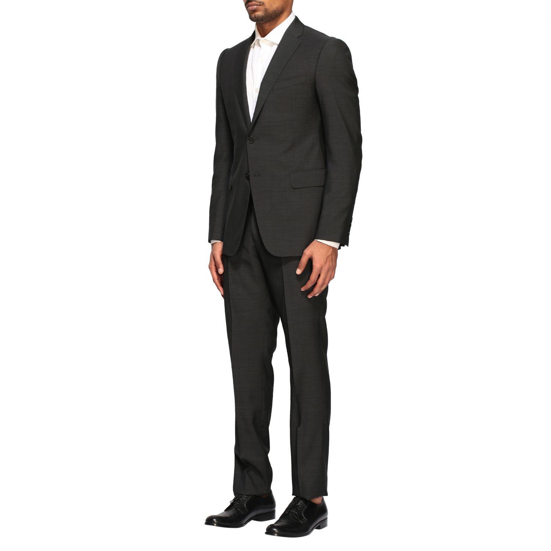 Anzug Emporio Armani: Emporio Armani Anzug aus Wolle 213gr drop 7 charcoal 4
