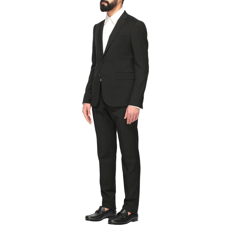 Suit Emporio Armani: Emporio Armani wool suit 220gr drop 8 black 4