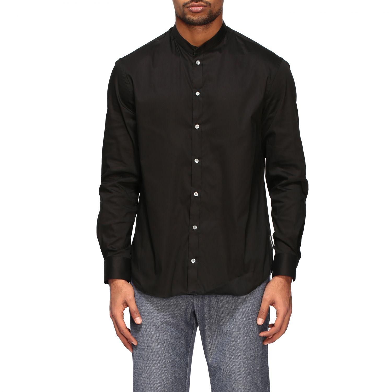 Shirt Emporio Armani: Emporio Armani shirt with Korean collar black 1