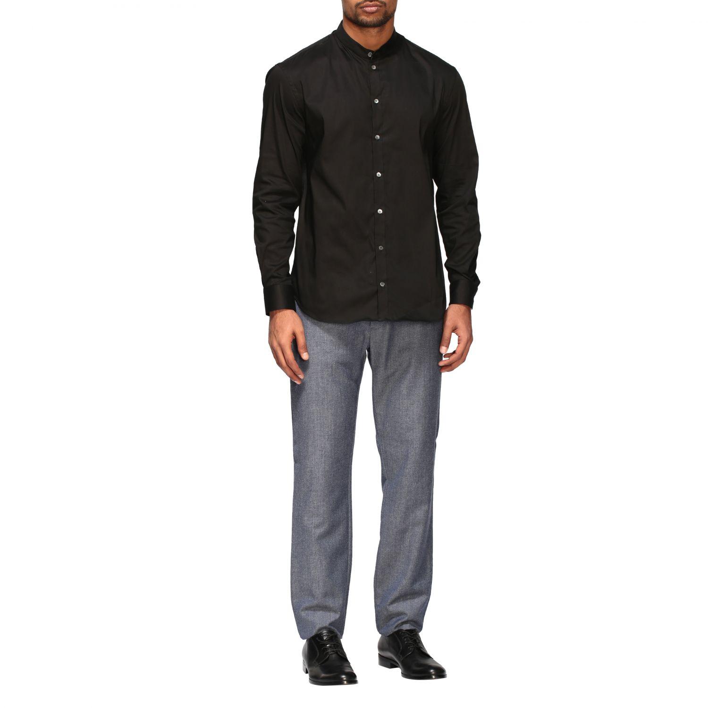 Shirt Emporio Armani: Emporio Armani shirt with Korean collar black 2