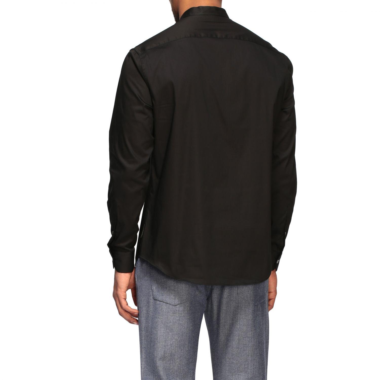 Shirt Emporio Armani: Emporio Armani shirt with Korean collar black 3