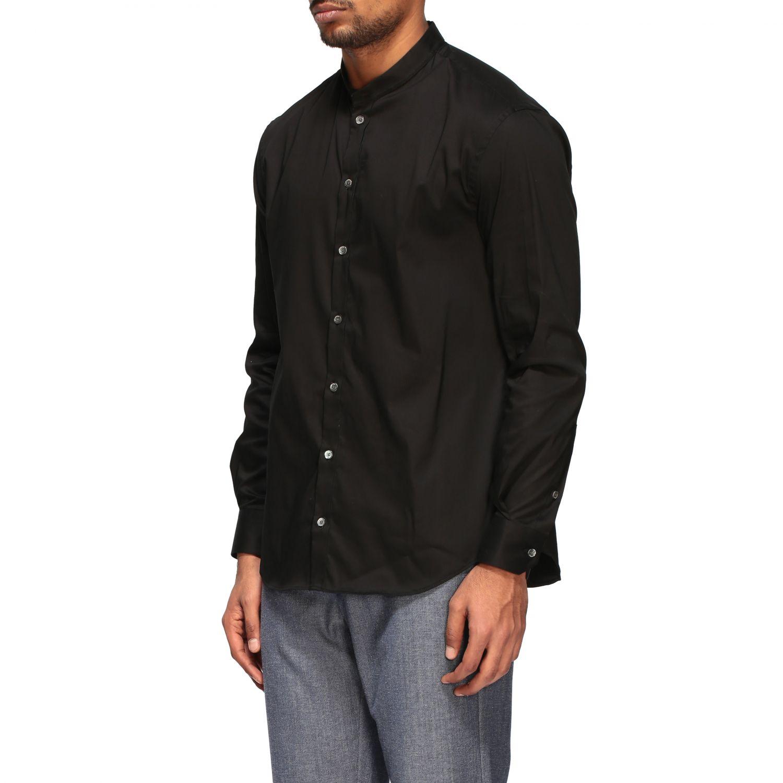 Shirt Emporio Armani: Emporio Armani shirt with Korean collar black 4
