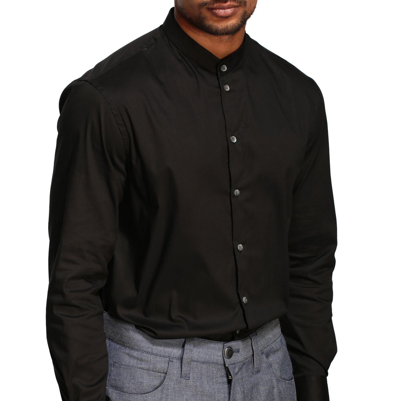 Shirt Emporio Armani: Emporio Armani shirt with Korean collar black 5