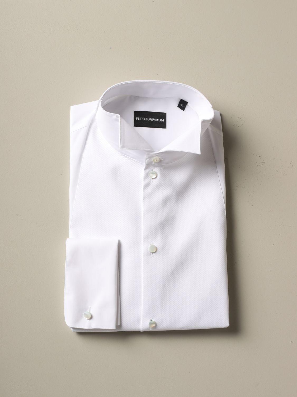 Shirt Emporio Armani: Emporio Armani shirt with wing collar white 1