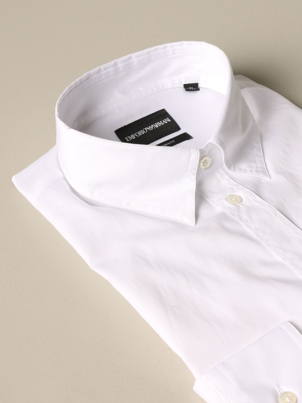 Shirt Emporio Armani: Emporio Armani shirt with Italian collar white 2