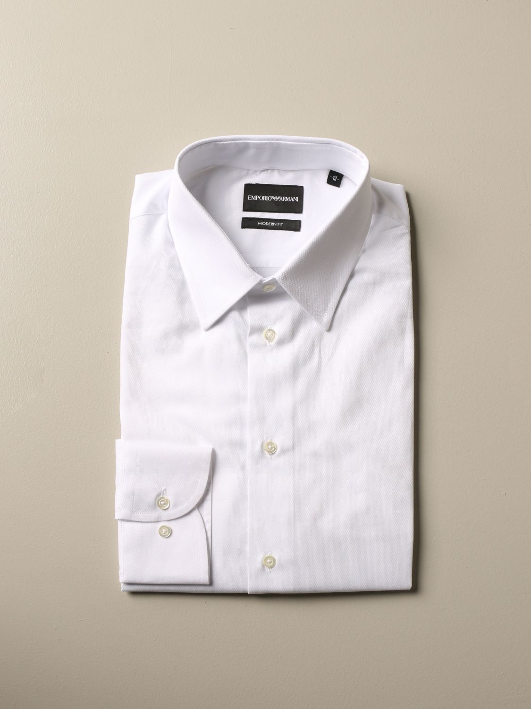 Shirt Emporio Armani: Emporio Armani shirt with Italian collar white 1