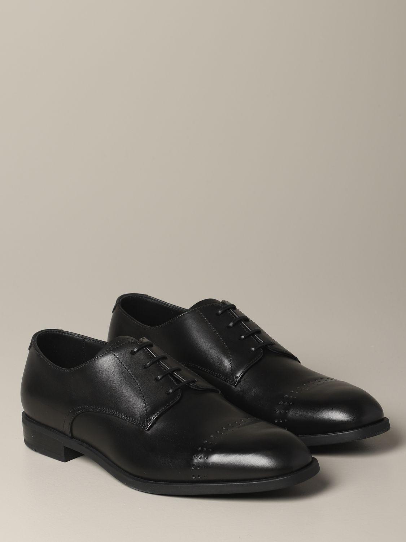 Brogue shoes Emporio Armani: Emporio Armani classic derby in leather black 2