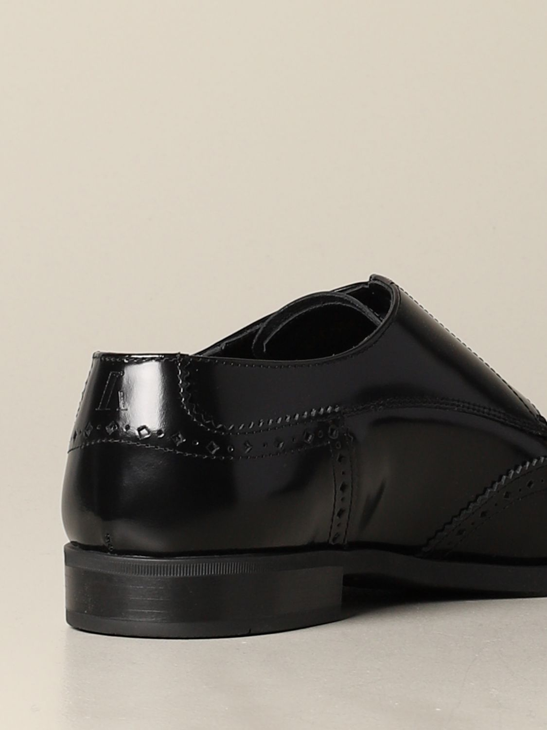 Brogue shoes Emporio Armani: Emporio Armani derby in brushed leather with brogue motif black 5