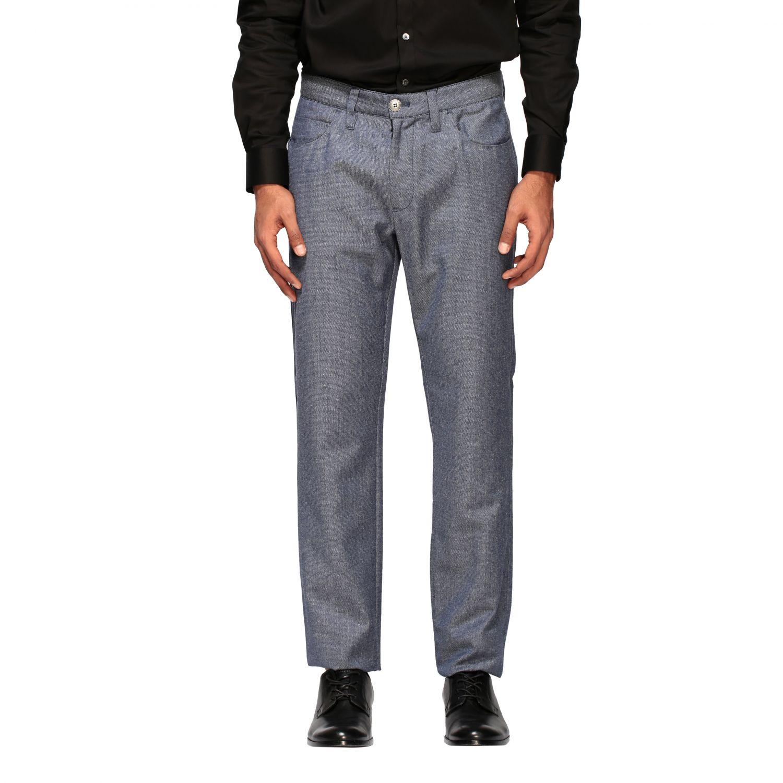 Hose Emporio Armani: Emporio Armani Hose aus strukturierter Baumwolle blau 1