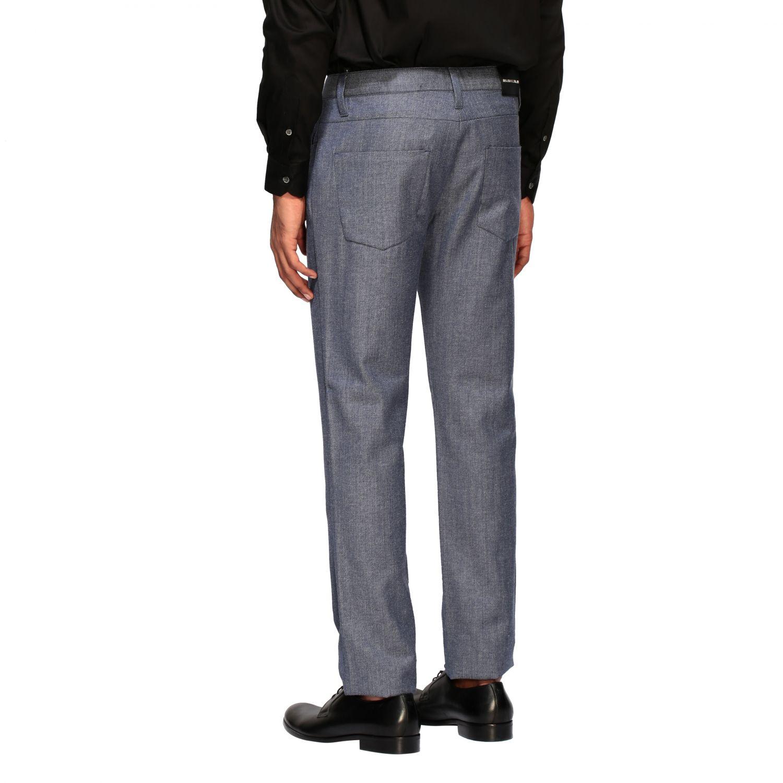 Hose Emporio Armani: Emporio Armani Hose aus strukturierter Baumwolle blau 3