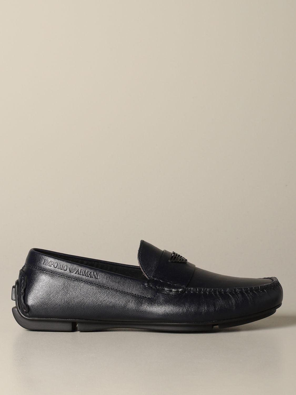 Emporio Armani Drive loafer in leather