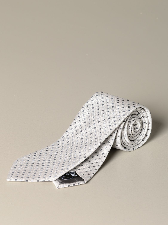 Krawatte Emporio Armani: Emporio Armani Krawatte aus mikro gemusterter Seide yellow cream 1