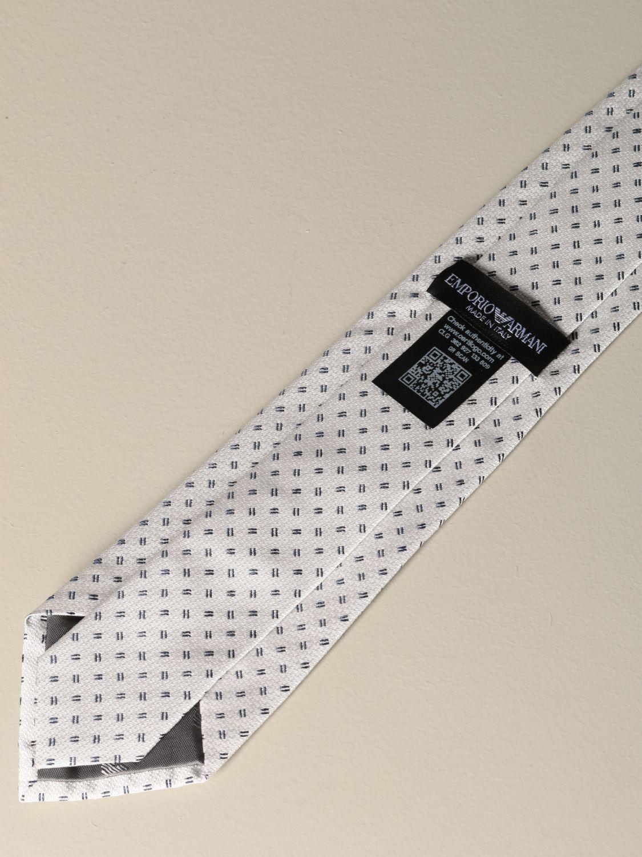 Krawatte Emporio Armani: Emporio Armani Krawatte aus mikro gemusterter Seide yellow cream 2