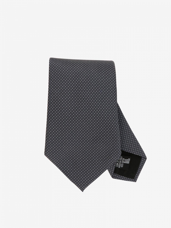 Krawatte Emporio Armani: Emporio Armani Krawatte aus mikro gemusterter Seide charcoal 1