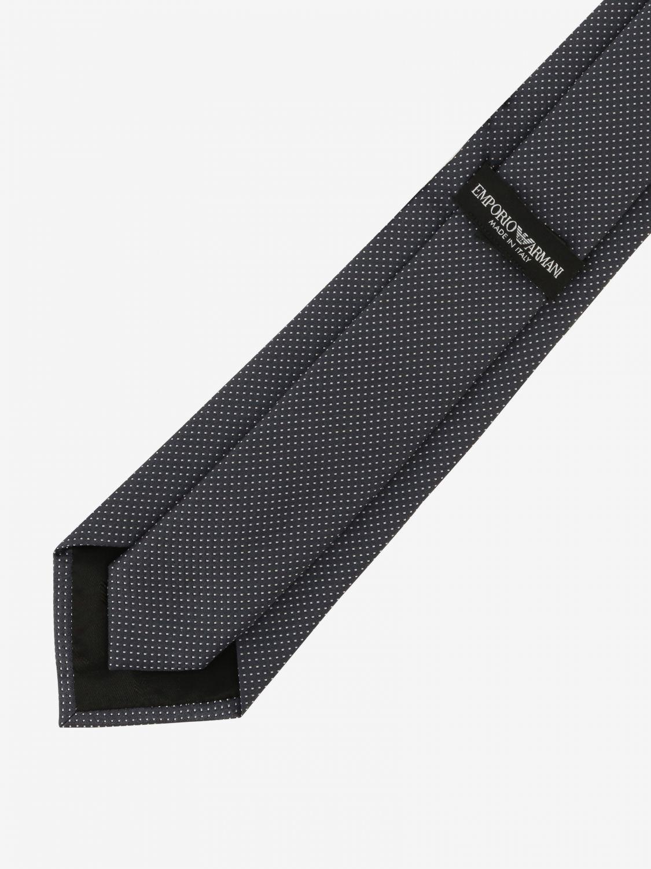 Krawatte Emporio Armani: Emporio Armani Krawatte aus mikro gemusterter Seide charcoal 2