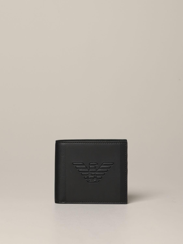Emporio Armani 人造皮钱包 黑色 1