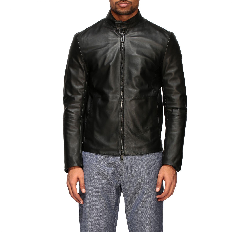 Jacket Emporio Armani: Emporio Armani leather nail black 1