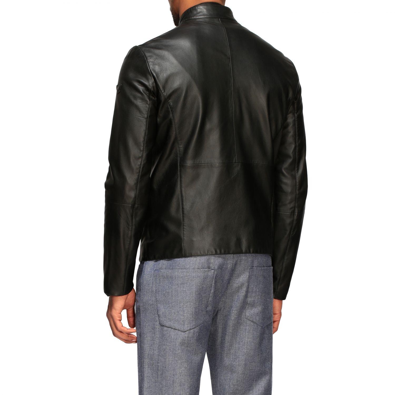 Jacket Emporio Armani: Emporio Armani leather nail black 2