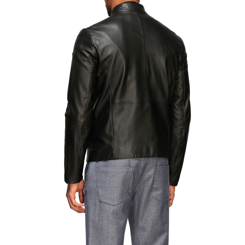 Emporio Armani leather nail black 2