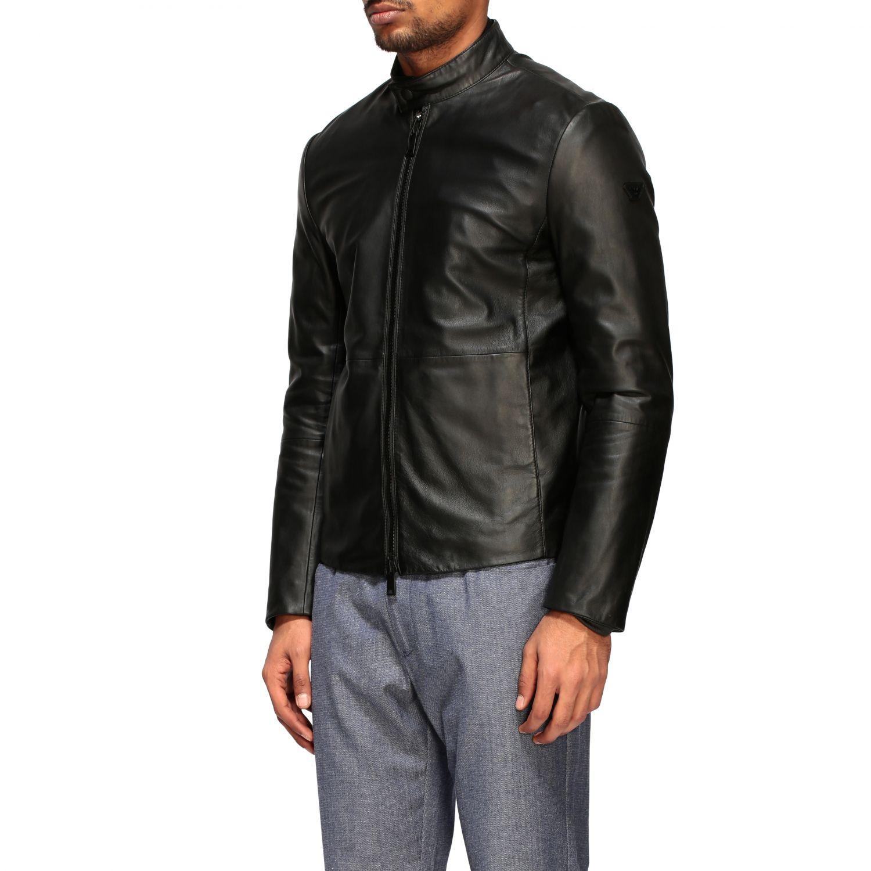 Jacket Emporio Armani: Emporio Armani leather nail black 3
