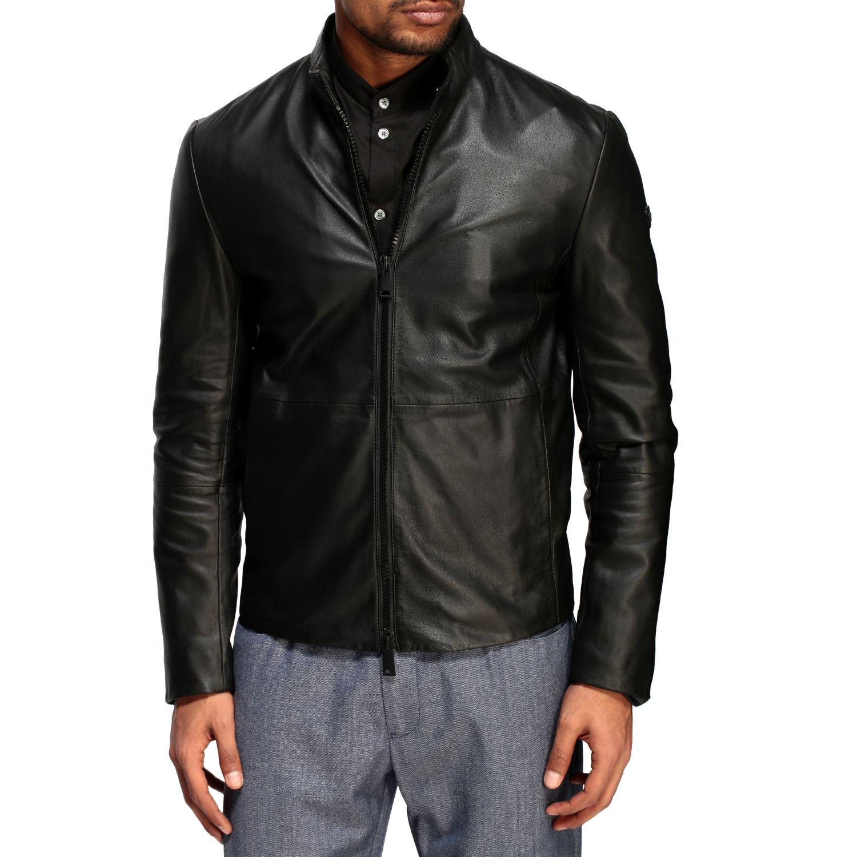 Jacket Emporio Armani: Emporio Armani leather nail black 4