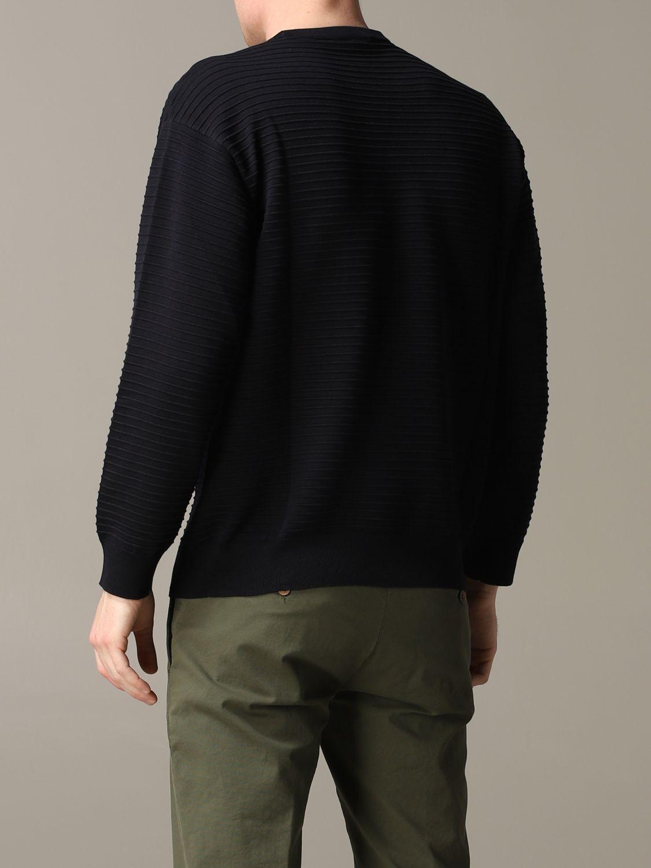 Pullover Emporio Armani: Emporio Armani gestreiftes Sweatshirt aus Baumwolle mit Logo blau 3