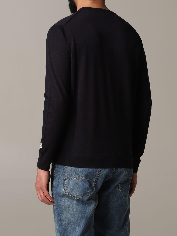 Pullover Emporio Armani: Emporio Armani Sweatshirt mit Jacquard-Logo blau 3
