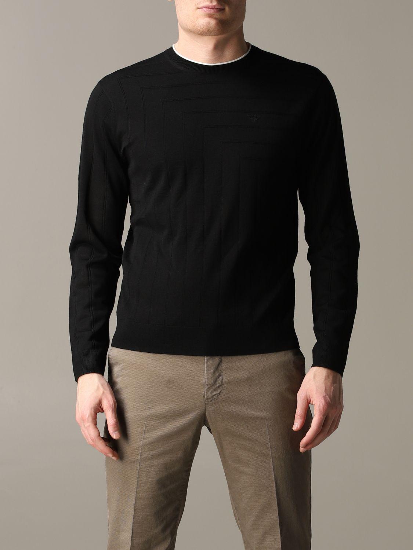 Pullover Emporio Armani: Emporio Armani Sweatshirt aus Baumwolle mit Logo schwarz 1