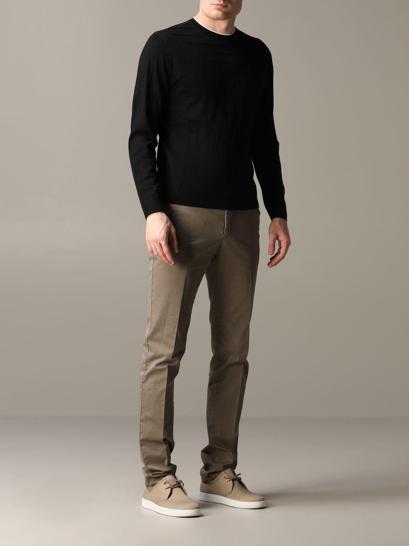 Pullover Emporio Armani: Emporio Armani Sweatshirt aus Baumwolle mit Logo schwarz 2