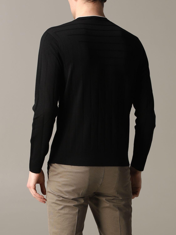 Pullover Emporio Armani: Emporio Armani Sweatshirt aus Baumwolle mit Logo schwarz 3