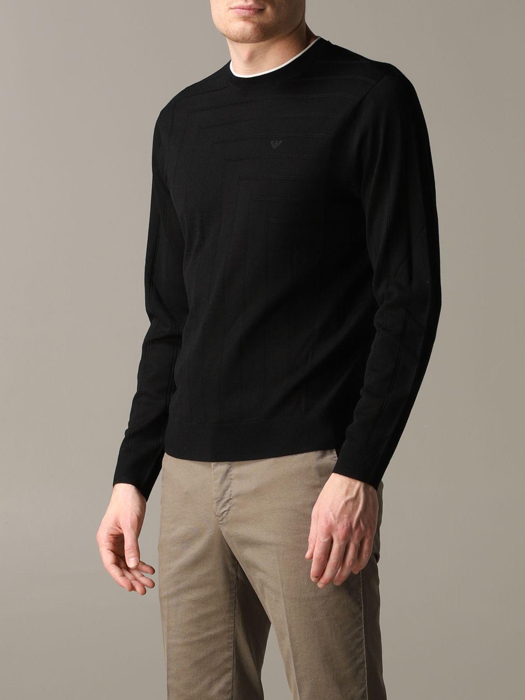 Pullover Emporio Armani: Emporio Armani Sweatshirt aus Baumwolle mit Logo schwarz 4