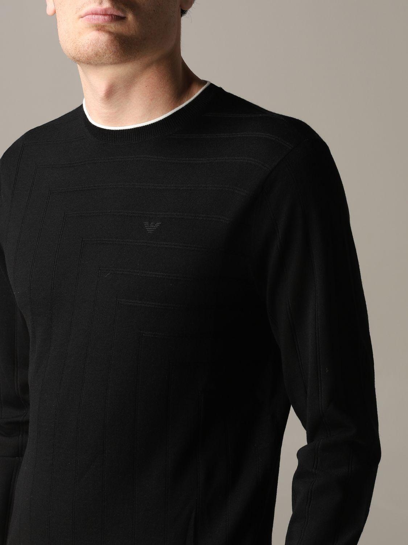 Pullover Emporio Armani: Emporio Armani Sweatshirt aus Baumwolle mit Logo schwarz 5