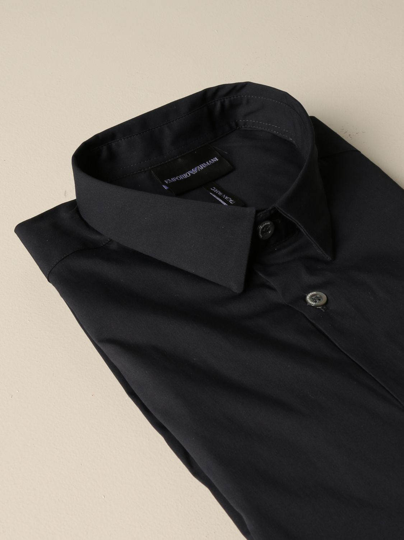 Hemd Emporio Armani: Emporio Armani Hemd aus Stretch-Popeline blau 2
