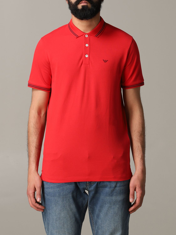 T-Shirt Emporio Armani: Emporio Armani Poloshirt mit Logo rot 1