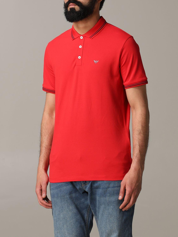 T-Shirt Emporio Armani: Emporio Armani Poloshirt mit Logo rot 4