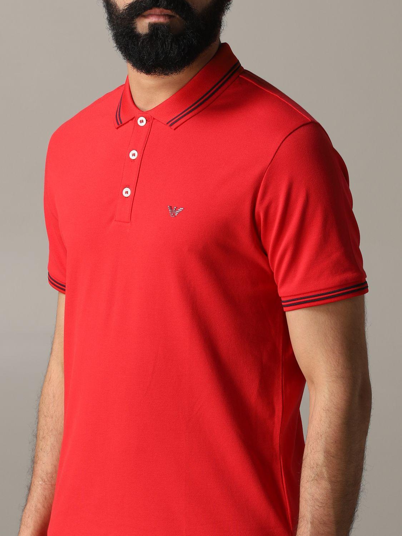 T-Shirt Emporio Armani: Emporio Armani Poloshirt mit Logo rot 5