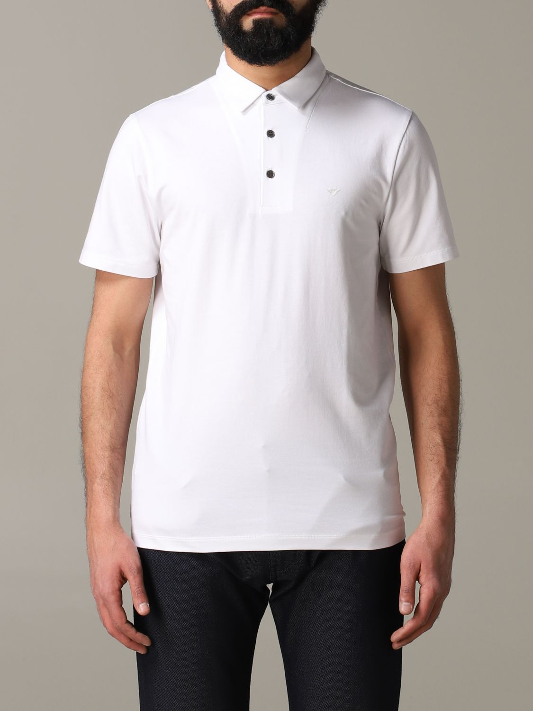 T-Shirt Emporio Armani: Emporio Armani Polo mit Logo weiß 1