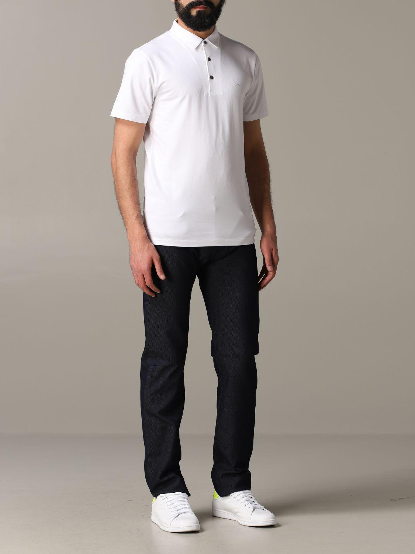 T-Shirt Emporio Armani: Emporio Armani Polo mit Logo weiß 2