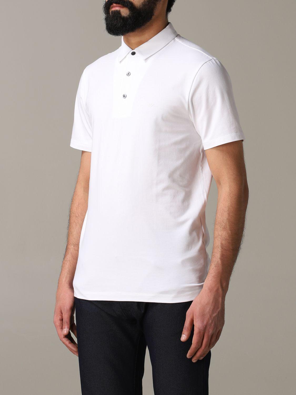 T-Shirt Emporio Armani: Emporio Armani Polo mit Logo weiß 4