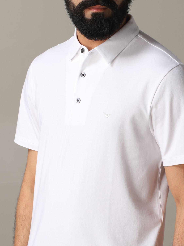 T-Shirt Emporio Armani: Emporio Armani Polo mit Logo weiß 5