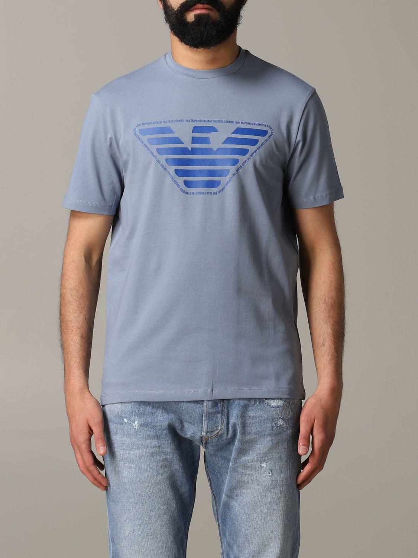 T-Shirt Emporio Armani: Emporio Armani T-Shirt mit Logo grau 1