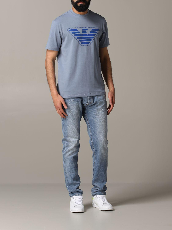 T-Shirt Emporio Armani: Emporio Armani T-Shirt mit Logo grau 2